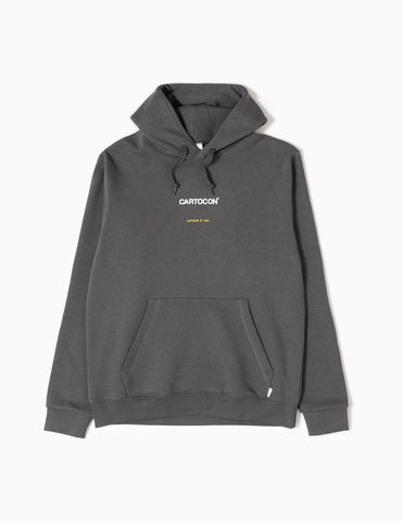 Cartocon 2021 Block Colour Logo Hoodie - Grey