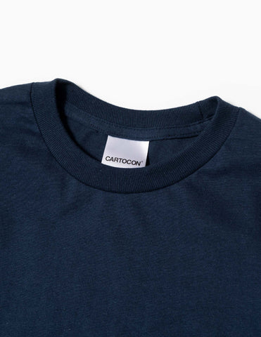 CARTOCON Pocket T-Shirt - Navy