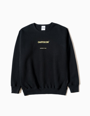 CARTOCON Logo Crew Neck Sweatshirt - Black