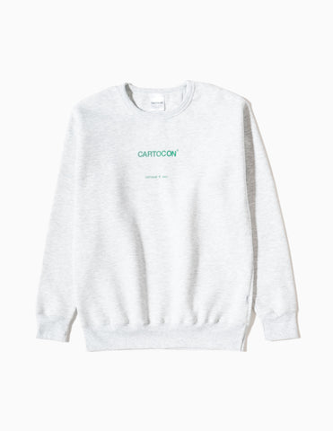CARTOCON Logo Crew Neck Sweatshirt - Light Grey