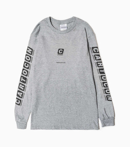 CARTOCON BBC 70s Long Sleeved T-Shirt - Washed Grey Long Sleeve T-Shirt - CARTOCON