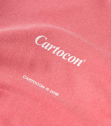 CARTOCON Times Garment Dyed Sweater - Pink Sweatshirt - CARTOCON