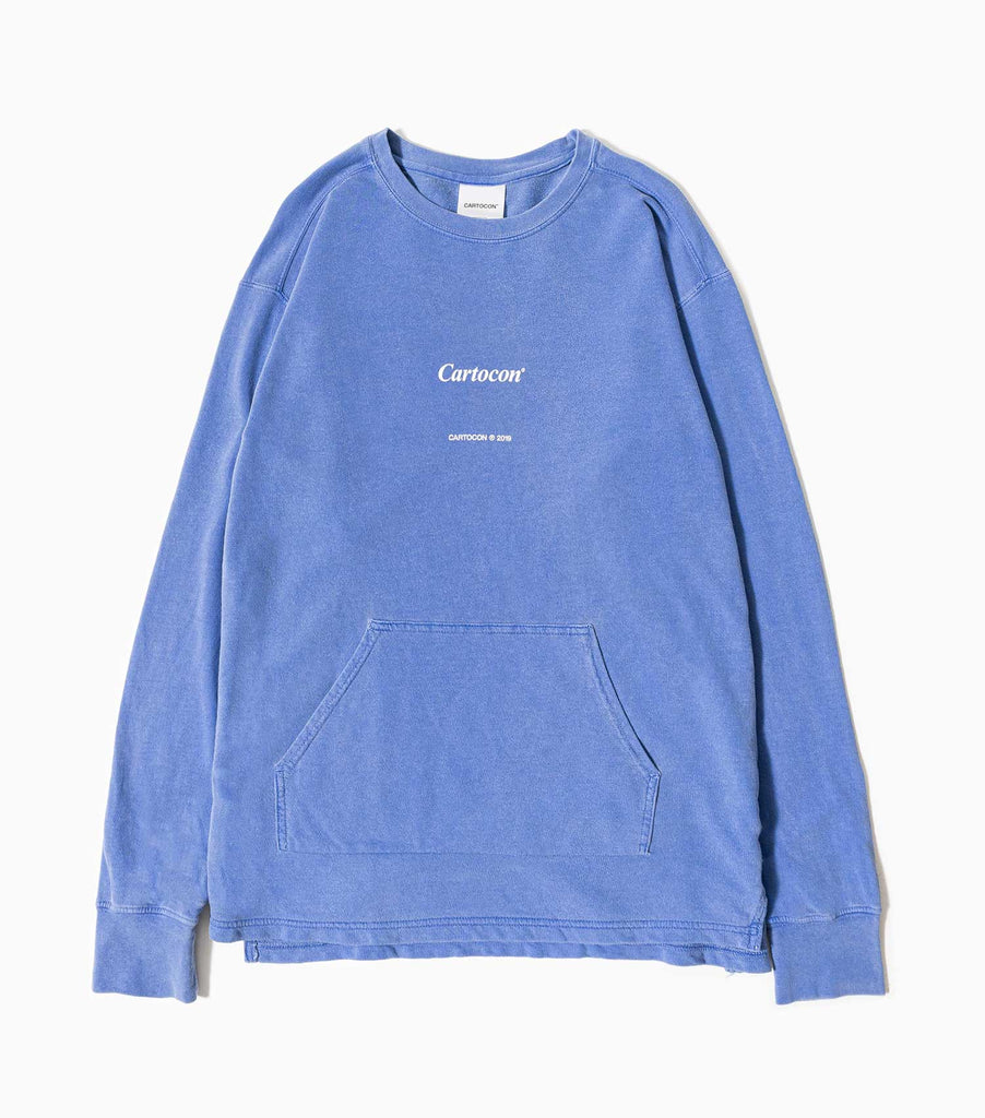 CARTOCON Times Garment Dyed Sweater - Blue Sweatshirt - CARTOCON
