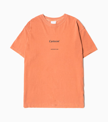 CARTOCON Times Garment Dyed T-Shirt - Burnt Orange T-Shirt - CARTOCON