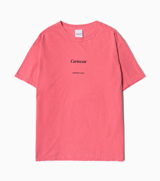 CARTOCON Times Garment Dyed T-Shirt - Pink T-Shirt - CARTOCON