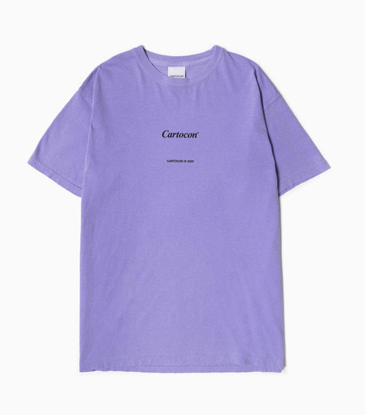 CARTOCON Times Garment Dyed T-Shirt - Violet T-Shirt - CARTOCON