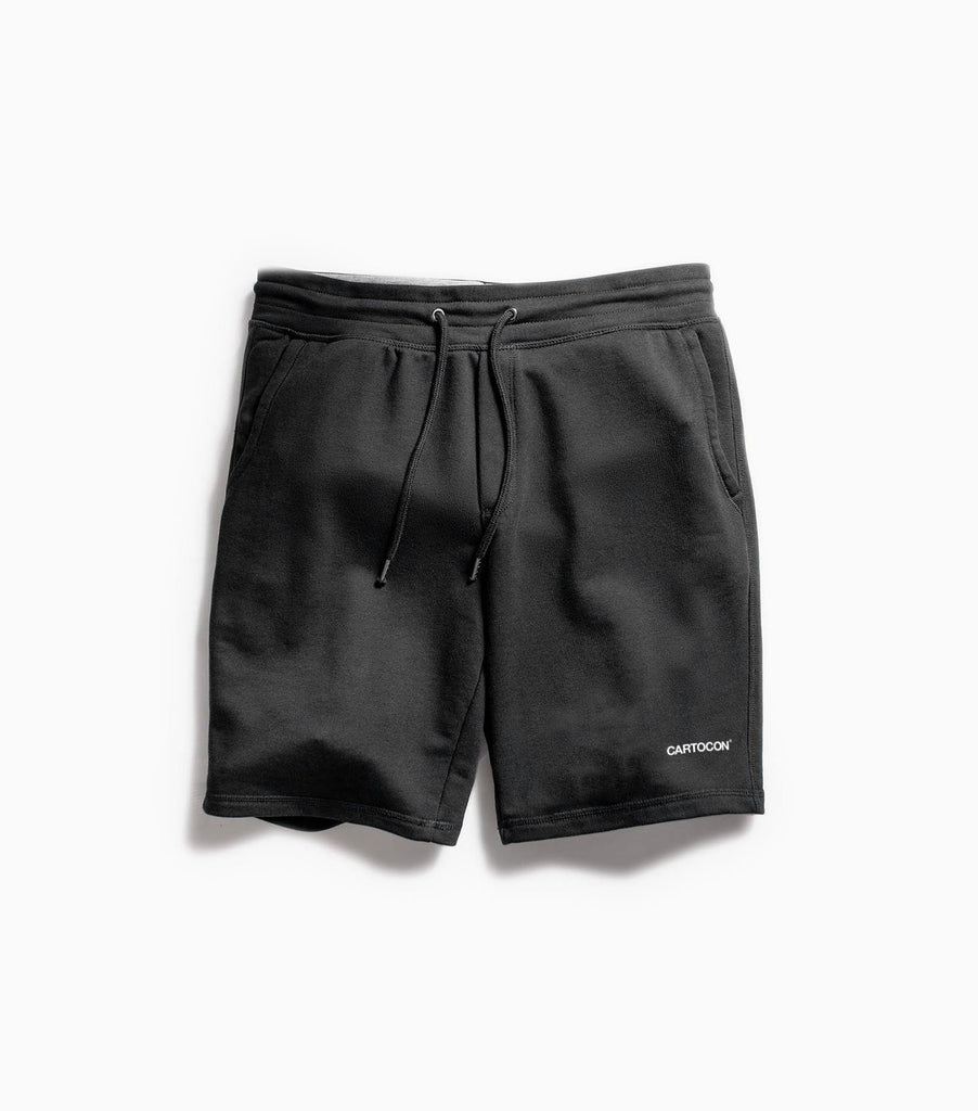 CARTOCON 2019 Logo Fleece Shorts - Black Shorts - CARTOCON
