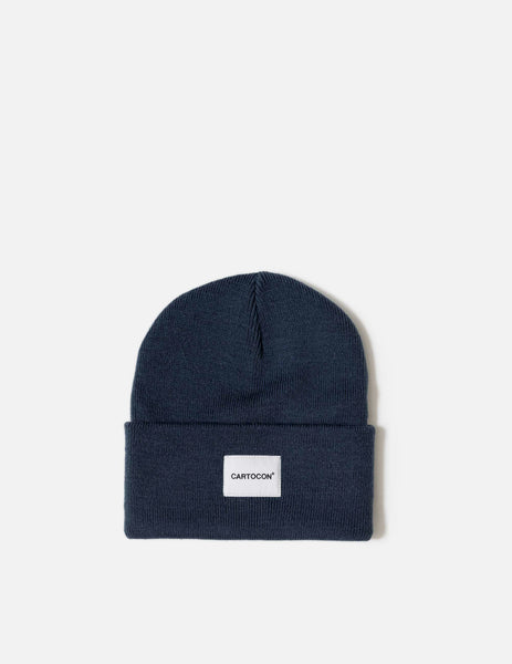 CARTOCON Rib Patch Beanie - Navy Blue