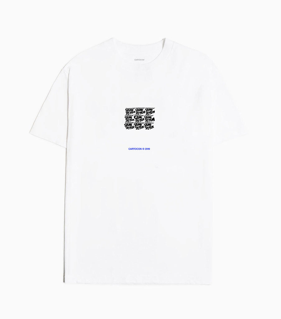 CARTOCON Soundsystem Edition One T-Shirt - White T-Shirt - CARTOCON