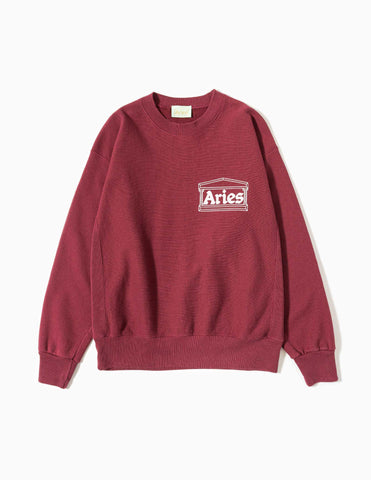 Aries Classic Temple Sweatshirt - Wine Sweatshirt - CARTOCON