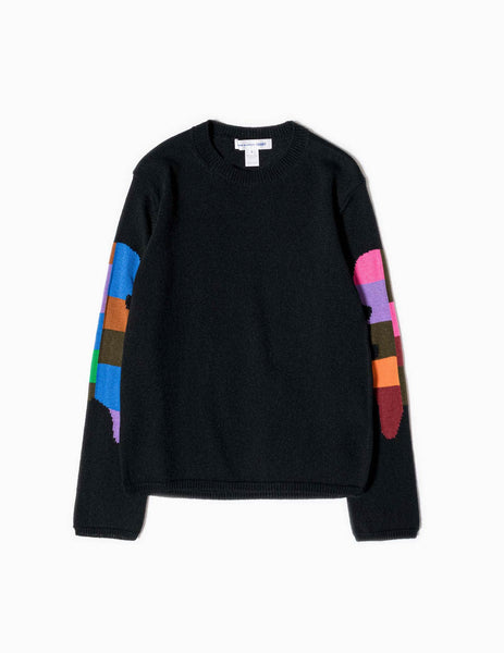 Comme des Garçons SHIRT Teddy Bear Knitted Sweater - Black Knitwear - CARTOCON