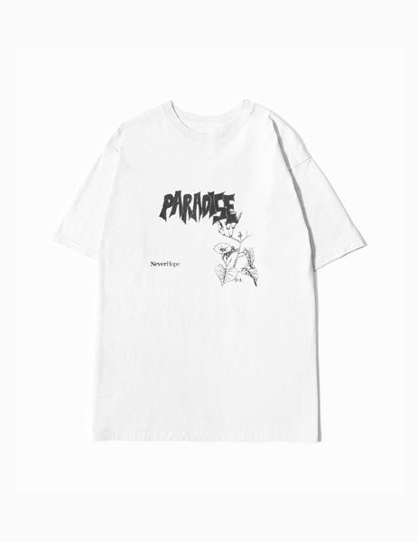 Neverhope Paradise T-Shirt - White T-Shirt - CARTOCON
