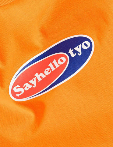 Sayhello Point Logo T-Shirt - Orange T-Shirt - CARTOCON