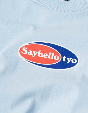 Sayhello Point Logo T-Shirt - Powder Blue T-Shirt - CARTOCON