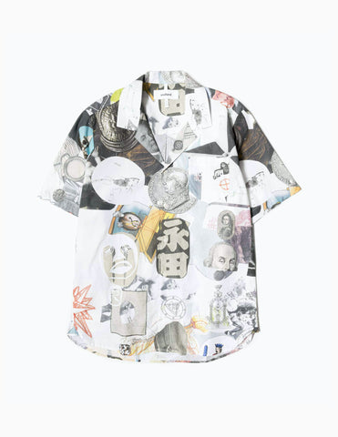 Soulland Meets Numbers Collage Button Up Shirt - Multi Shirt - CARTOCON
