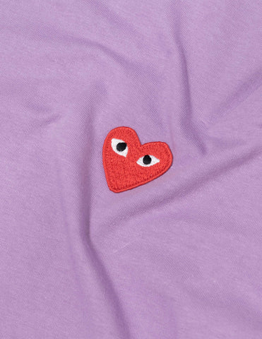 Comme des Garçons PLAY Colour Series Red Heart T-Shirt - Purple