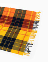 Comme Des Garcons Shirt Tartan Lambswool Cape Scarf - Yellow