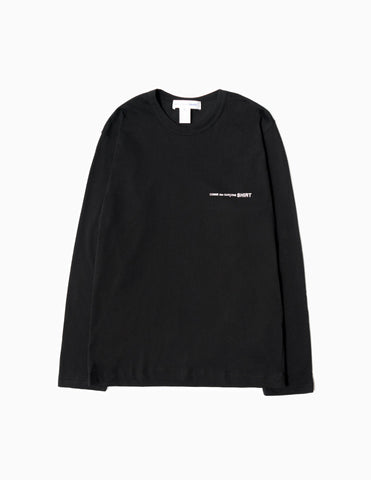 Comme des Garcons SHIRT Logo Long Sleeve T-Shirt - Black Long Sleeve T-Shirt - CARTOCON