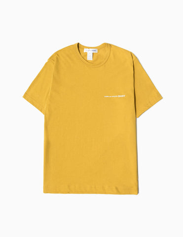 Comme des Garcons SHIRT Logo T-Shirt - Yellow T-Shirt - CARTOCON