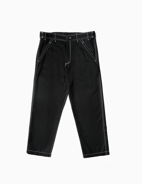 Comme des Garcons SHIRT Contrast Stitch Trousers - Black Trousers - CARTOCON