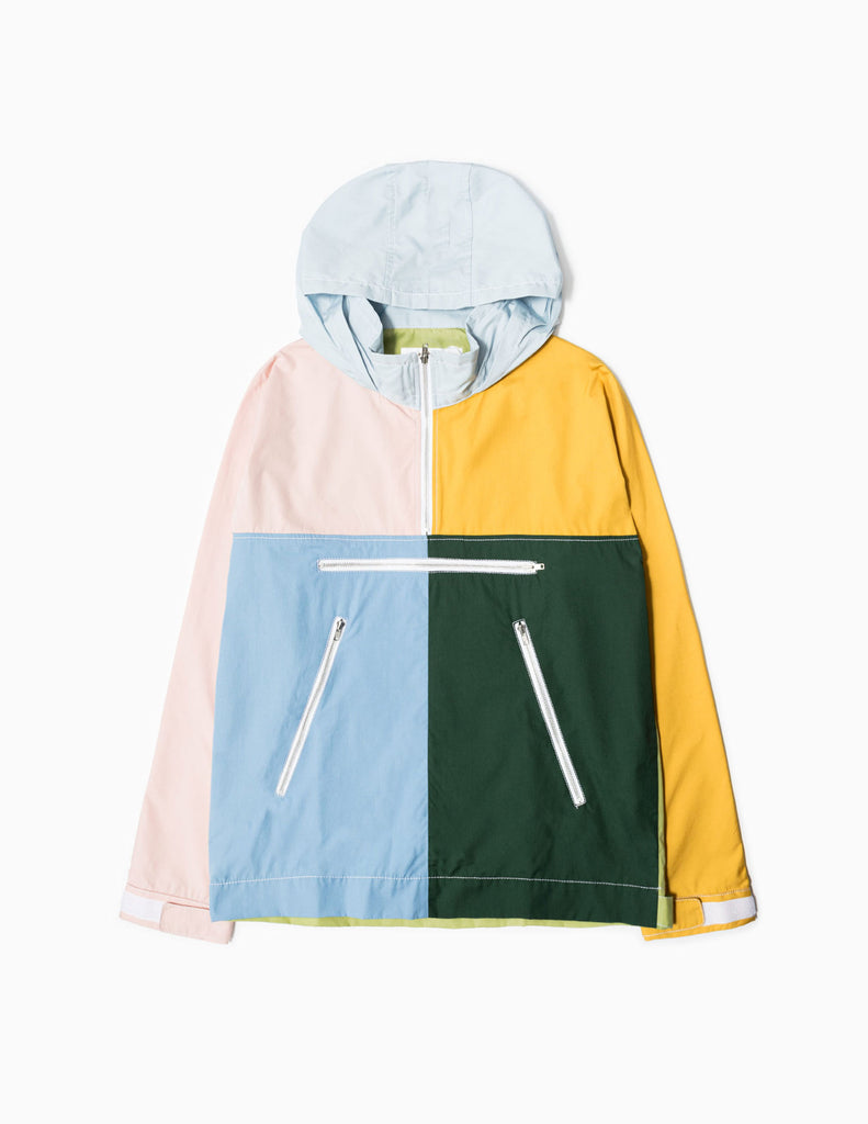 Comme des Garcons SHIRT Colour Block Half Zip Jacket - Green Mix Jacket - CARTOCON