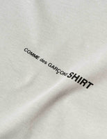 Comme des Garcons SHIRT Logo T-Shirt - Steel T-Shirt - CARTOCON