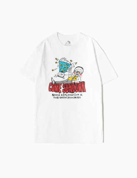 Come Sundown Noise T-Shirt - White T-Shirt - CARTOCON