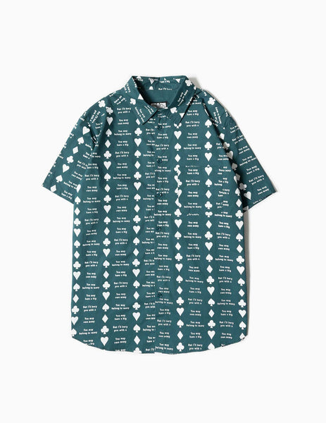 Come Sundown Diamond Button-Up Shirt - Green Shirt - CARTOCON