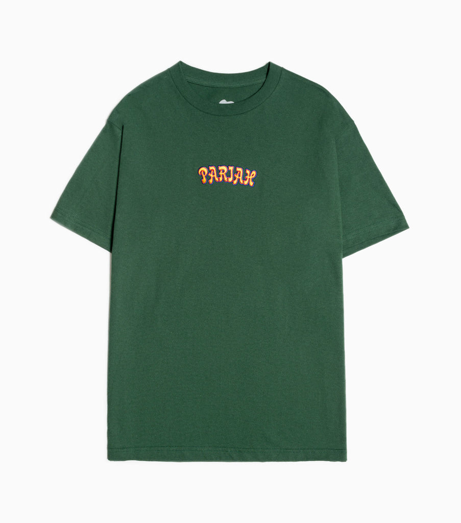 Come Sundown Pariah Embroidered T-Shirt - Forest Green