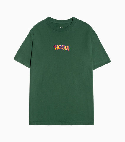 Come Sundown Pariah Embroidered T-Shirt - Forest Green T-Shirt - CARTOCON