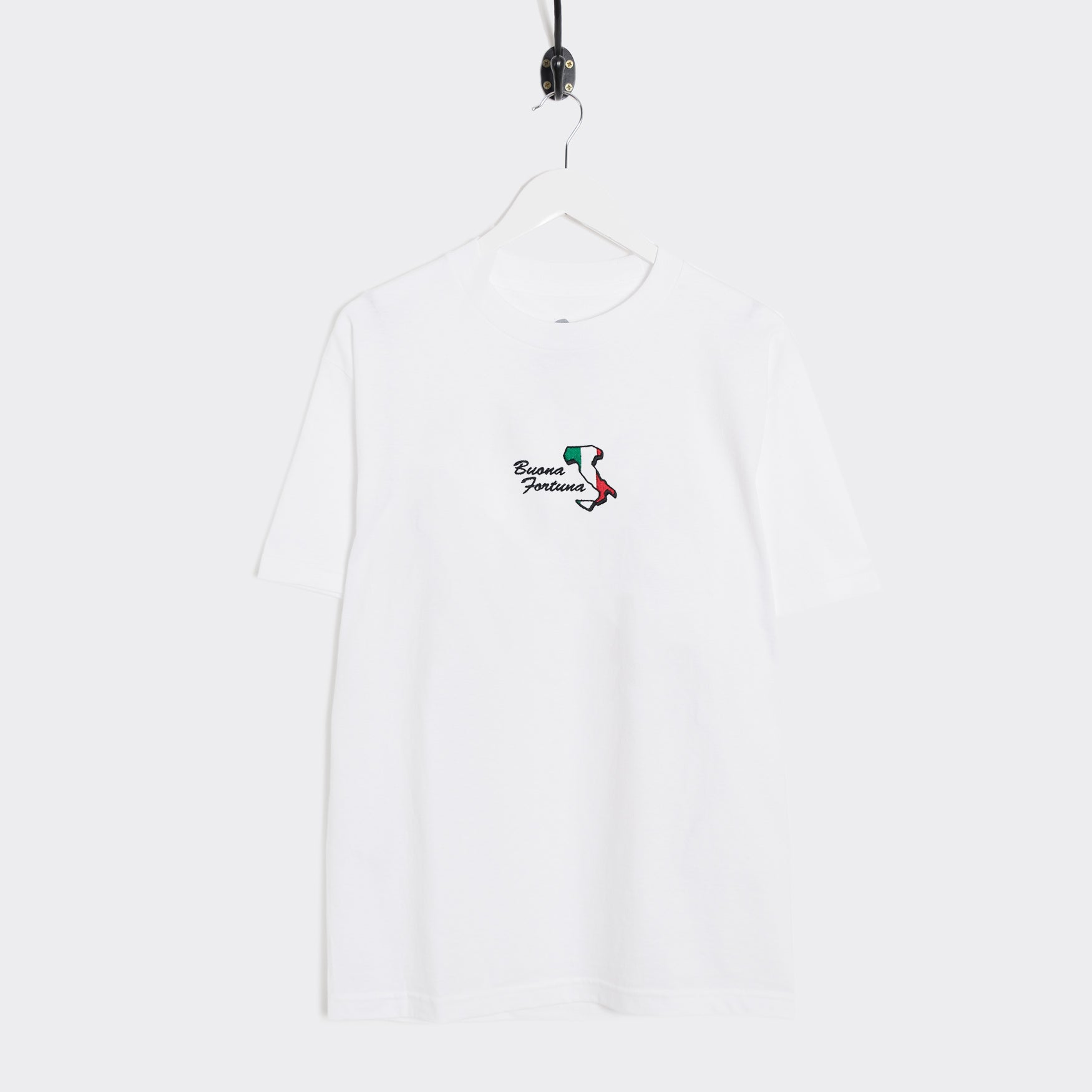 Come Sundown Buona Fortuna T-Shirt - White T-Shirt - CARTOCON