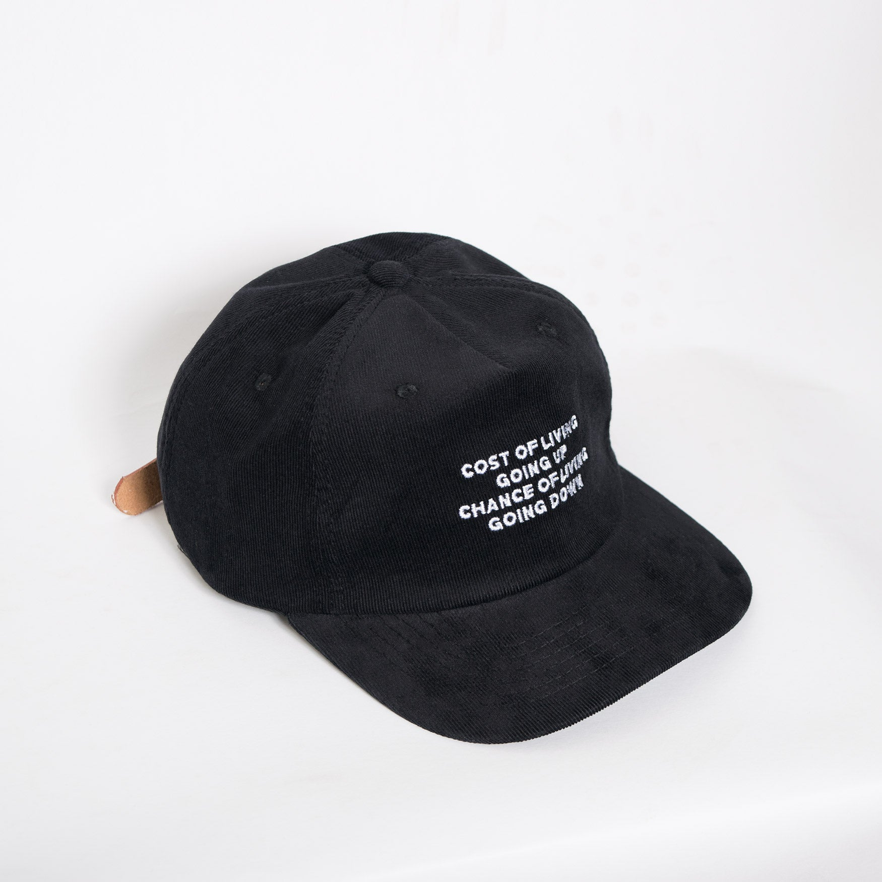 Come Sundown Cost Of Living Corduroy Cap - Black