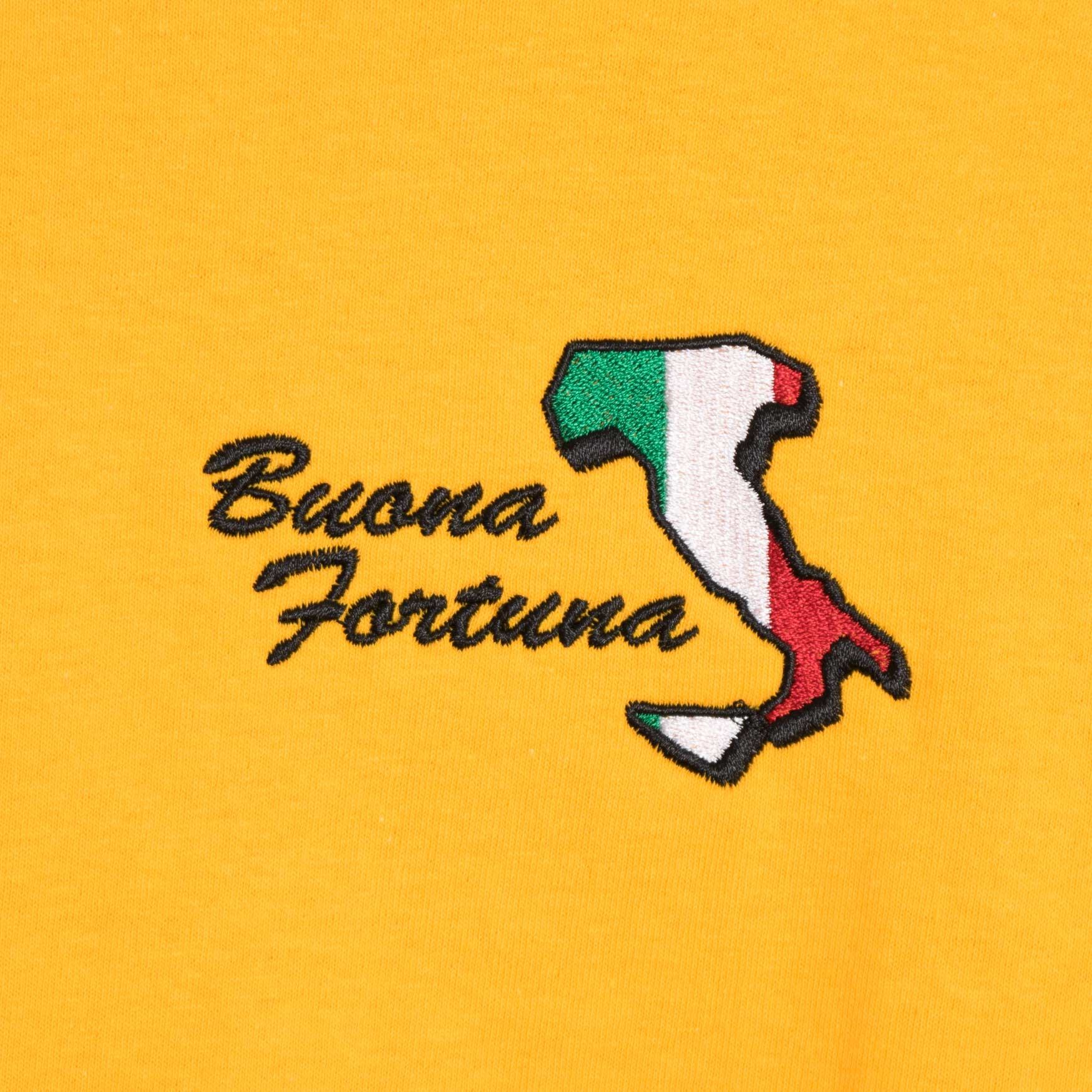 Come Sundown Buona Fortuna T-Shirt - Yellow T-Shirt - CARTOCON