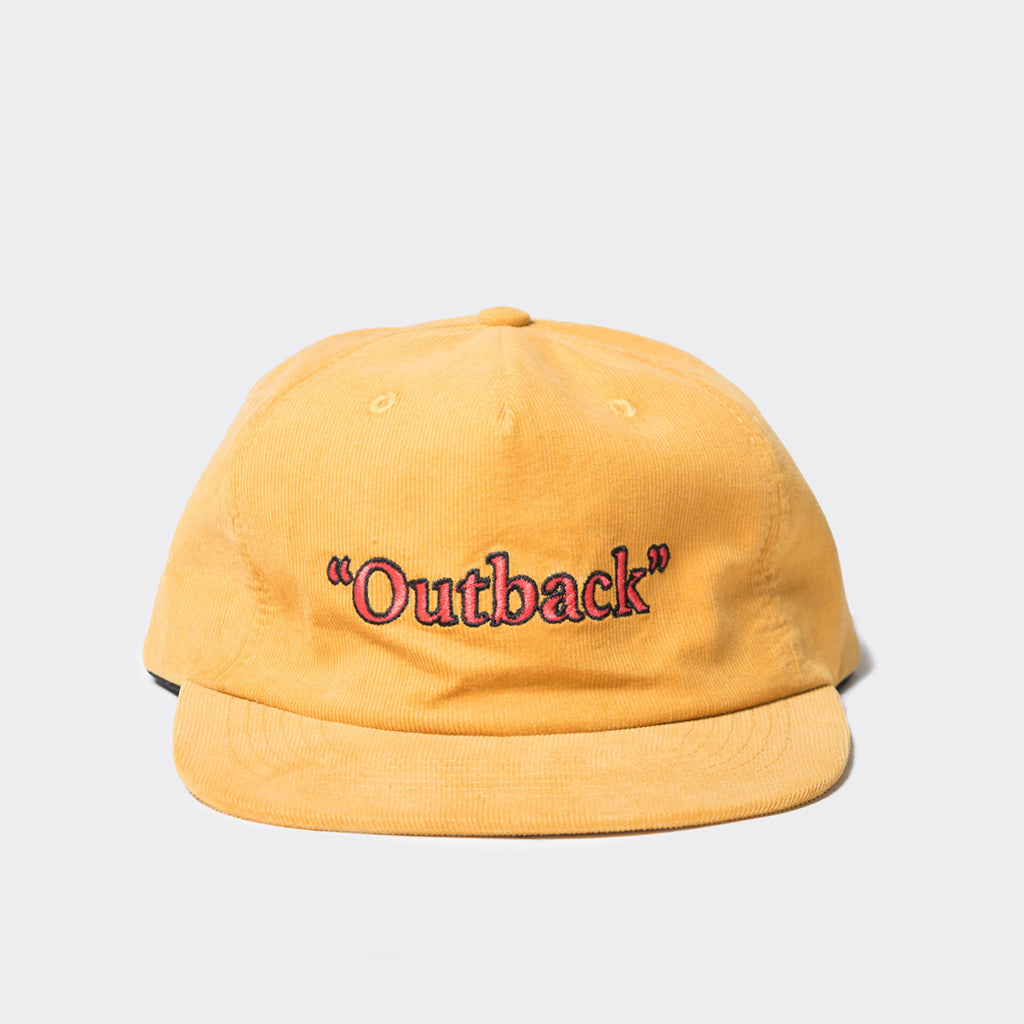 Come Sundown Yellow Corduroy Cap - Yellow
