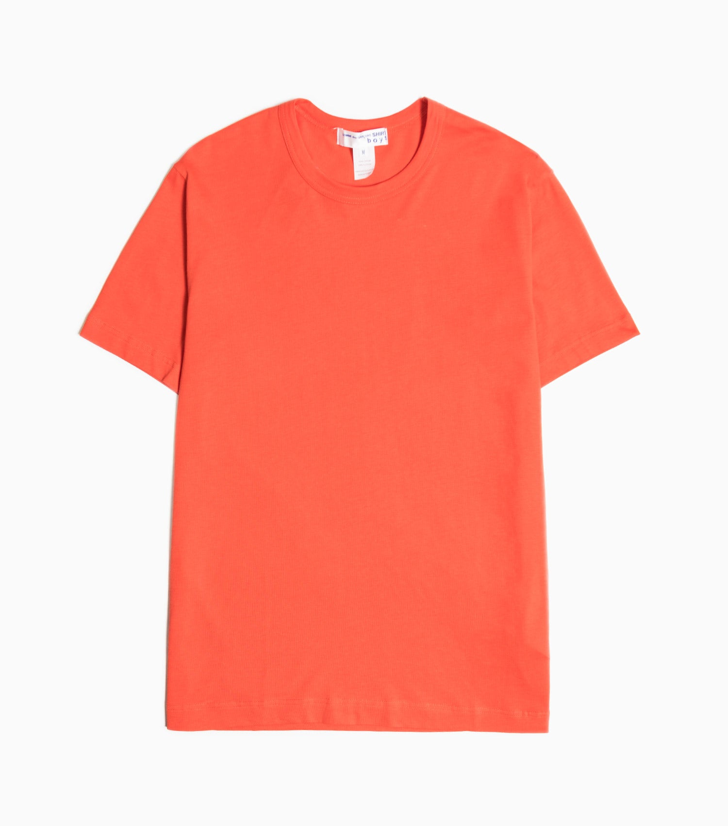 Comme des Garçons Shirt Boys Back Logo Jersey T-Shirt - Red T-Shirt - CARTOCON