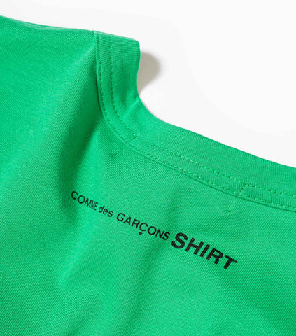Comme Des Garcons SHIRT Logo T-Shirt - Green T-Shirt - CARTOCON