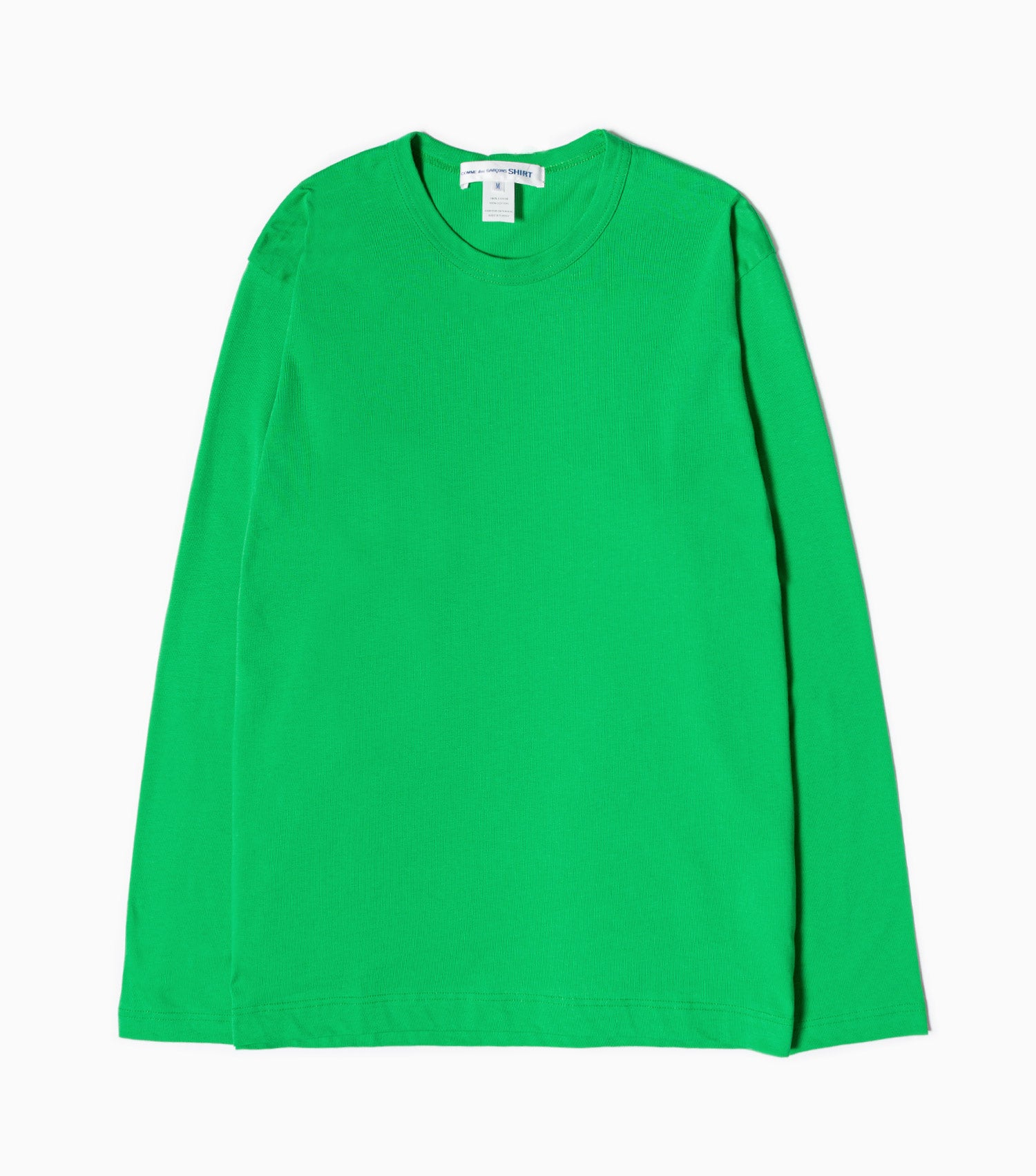 Comme Des Garcons SHIRT Logo Long Sleeve T-Shirt - Green