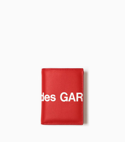 Comme des Garçons Wallet Huge Logo SA0641HL - Red Wallet - CARTOCON