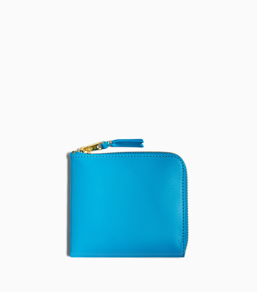 Comme des Garçons Classic Leather Wallet SA3100 - Blue - CARTOCON