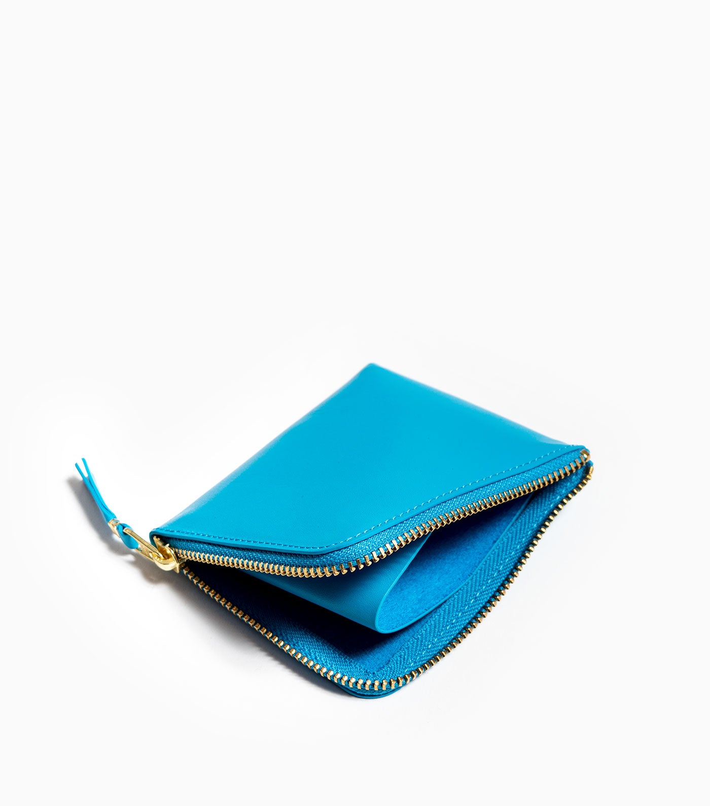 Comme des Garçons Classic Leather Wallet SA3100 - Blue Wallet - CARTOCON