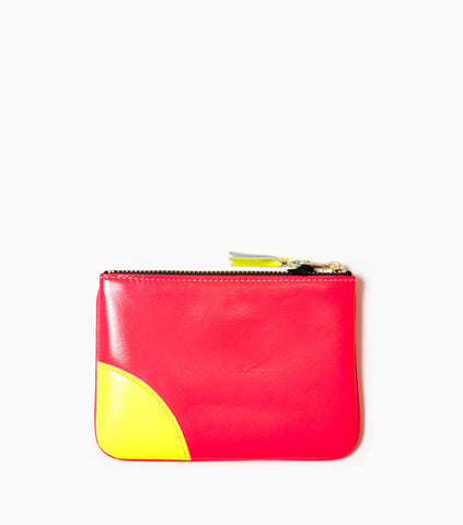 Comme des Garçons Wallet Super Flou Leather Line SA8100SF - Light Orange/Pink Wallet - CARTOCON