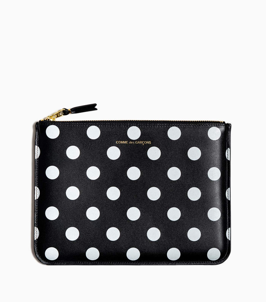 Comme des Garçons Dot Leather Wallet SA5100PD - Polka Dot/Black - CARTOCON