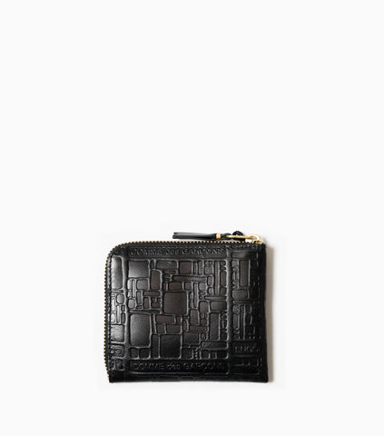 Comme des Garçons Wallet Embossed Logotype SA3100EL - Black Wallet - CARTOCON