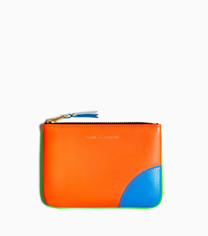 Comme des Garçons Wallet Super Fluo SA8100SF - Green/Orange Wallet - CARTOCON