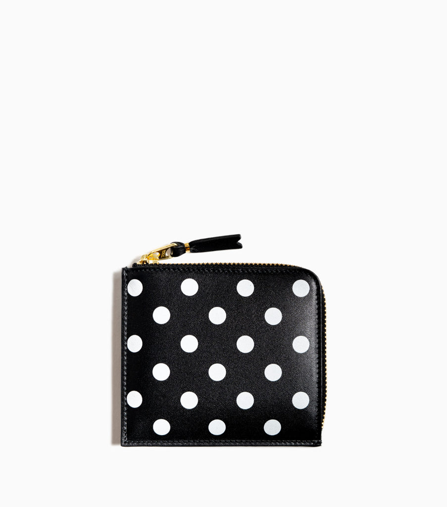 Comme des Garçons Wallet Dot Leather Line SA3100PD - Black/White Dots - CARTOCON