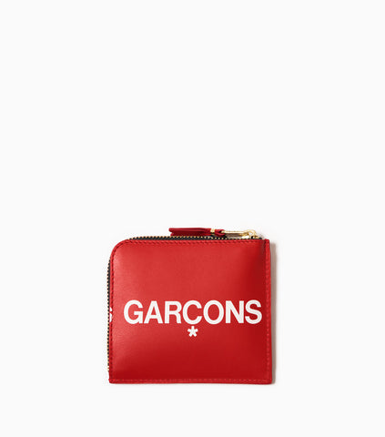 Comme des Garçons Wallet Huge Logo SA3100HL - Red Wallet - CARTOCON