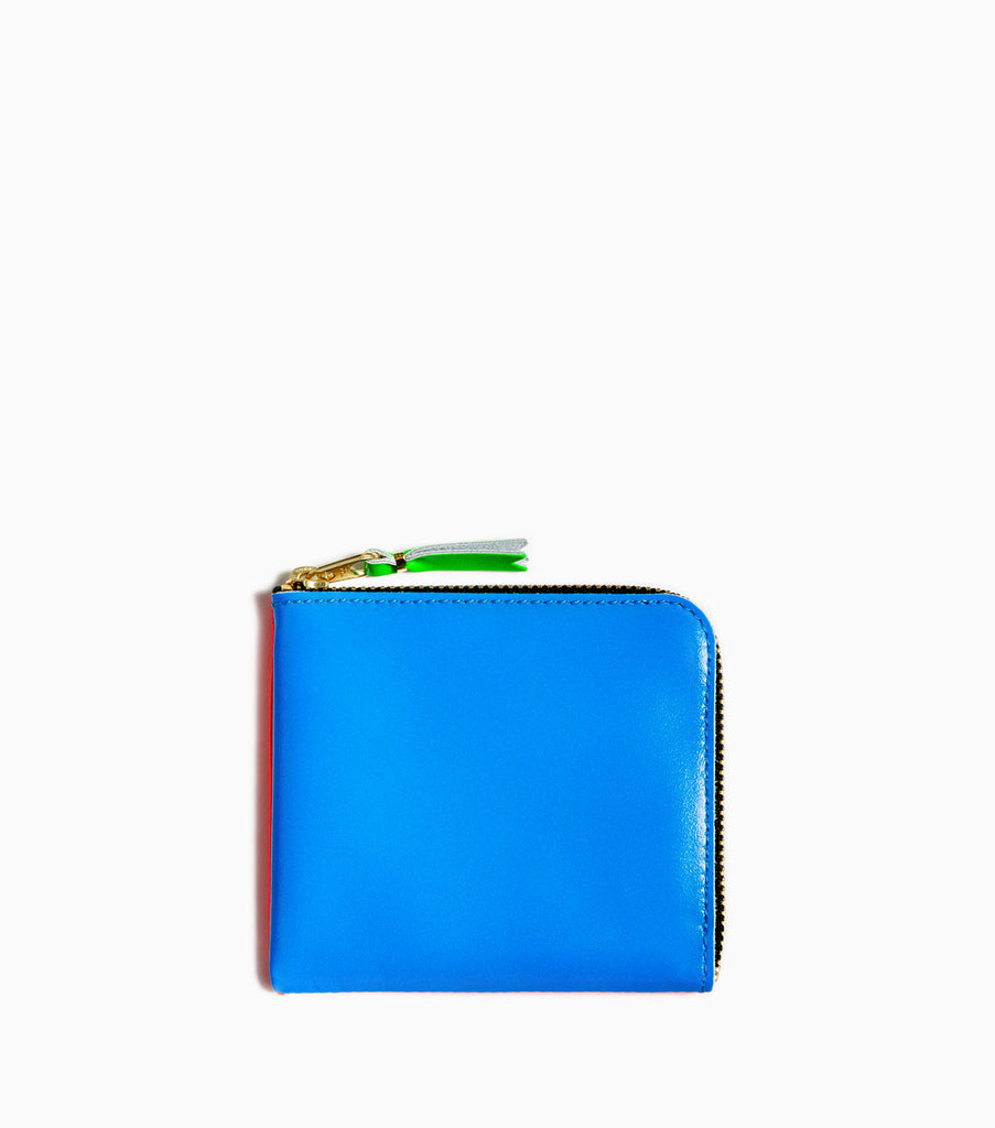 Comme des Garçons Wallet Super Fluo SA3100SF - Orange/Blue - CARTOCON