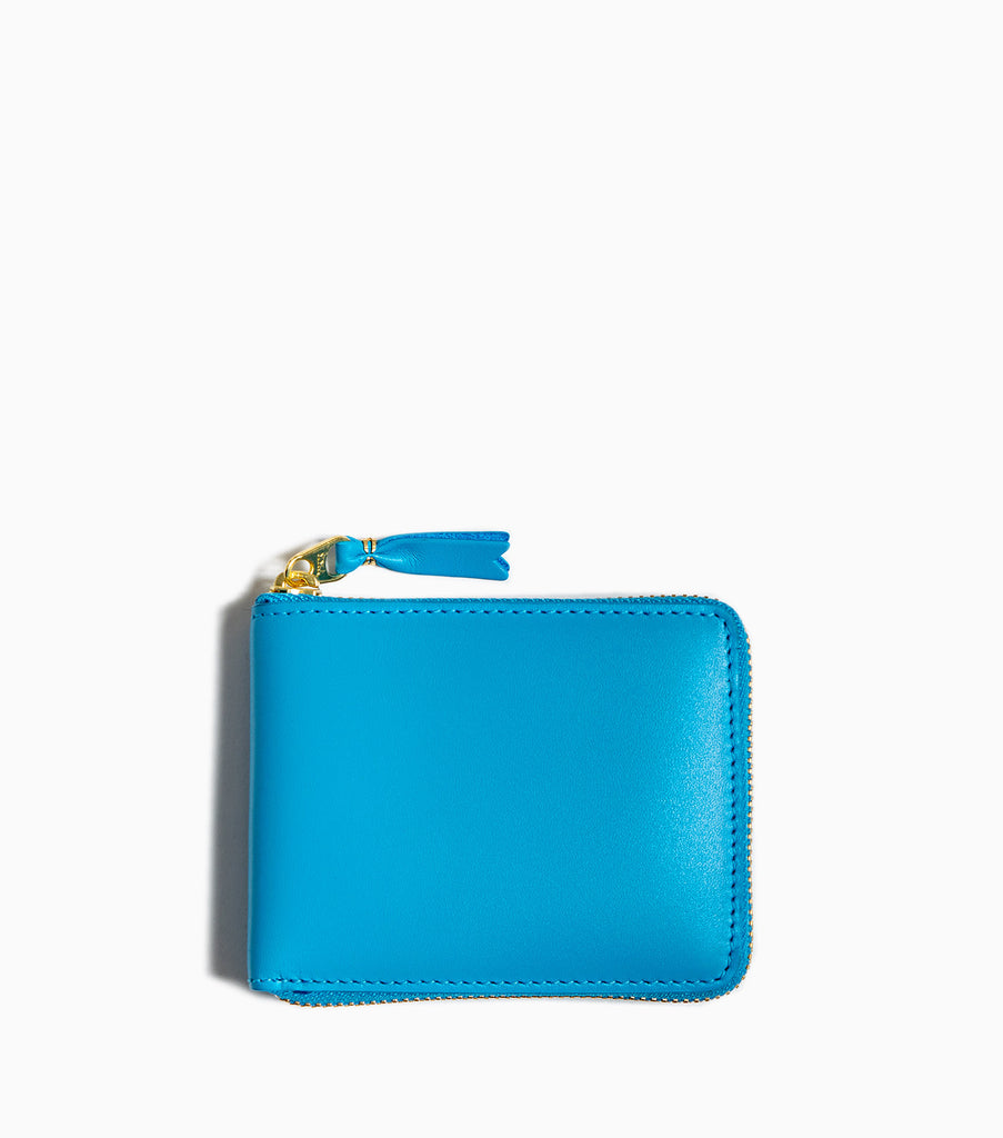 Comme des Garçons Wallet Classic Leather SA7100 - Blue Wallet - CARTOCON