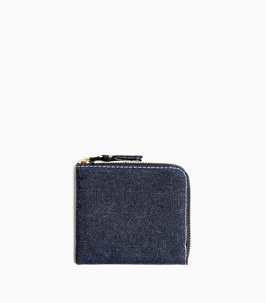 Comme des Garçons Denim Wallet SA3100DE - Blue Denim Wallet - CARTOCON