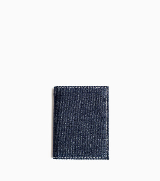 Comme des Garçons Denim Wallet SA0641DE - Blue Denim Wallet - CARTOCON